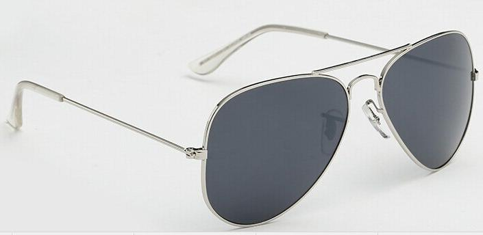 Red Bean Pilot Silver Sun Glasses Lunette