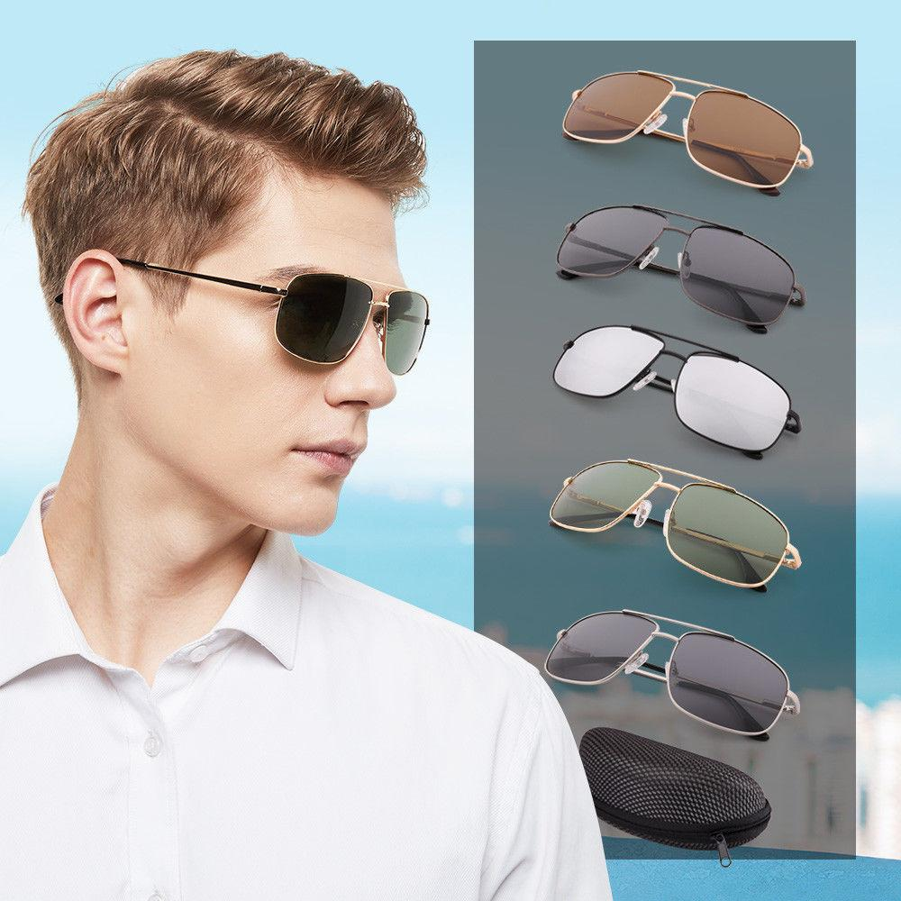 Retro Aviator Polarized Sunglasses For Men Women Eyewear Met