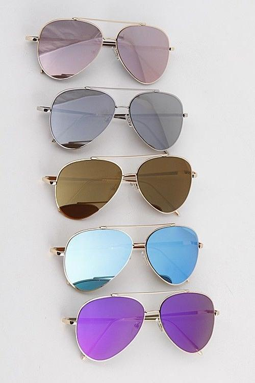 Rose Gold Women Sunglasses Aviator Glasses New