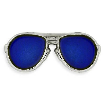 s trendy silver and blue lenses aviators