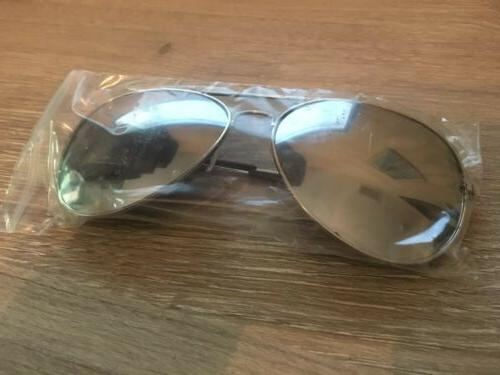 Silver Aviator Pilot Metal Sunglasses UV400