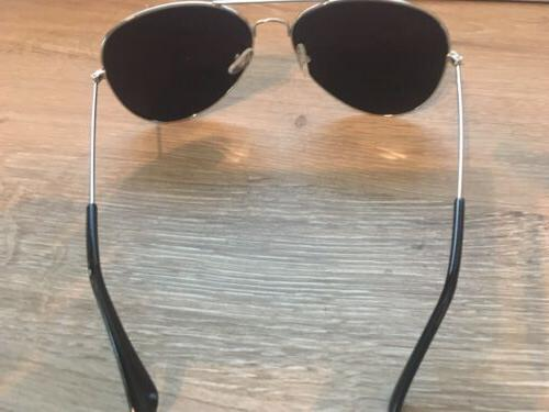 Silver Aviator Metal Sunglasses Frame Shades