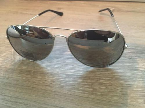 Silver Metal Shades UV400