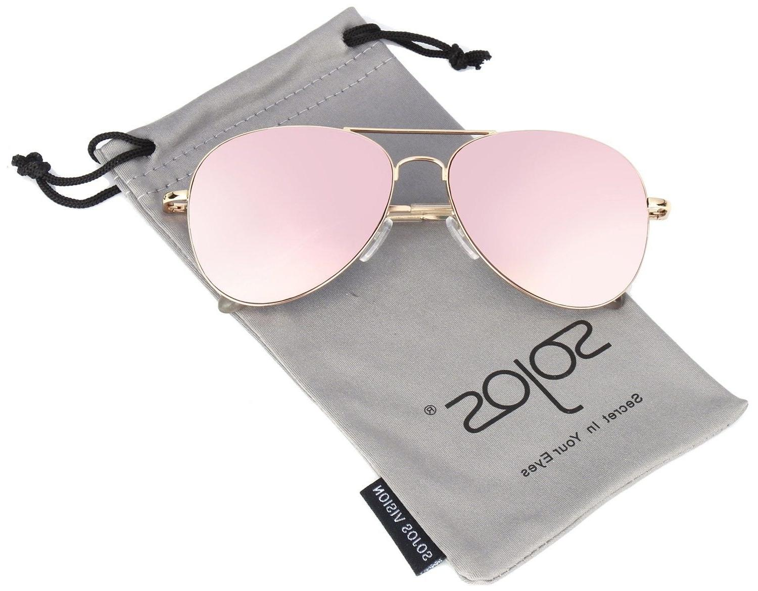 sojos classic mirrored flat lens sunglasses metal