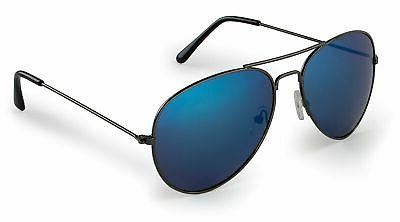 stylle aviator sunglasses gunmetal frame with blue