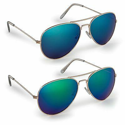 Stylle Classic Aviator Sunglasses and Black Cloth Protective