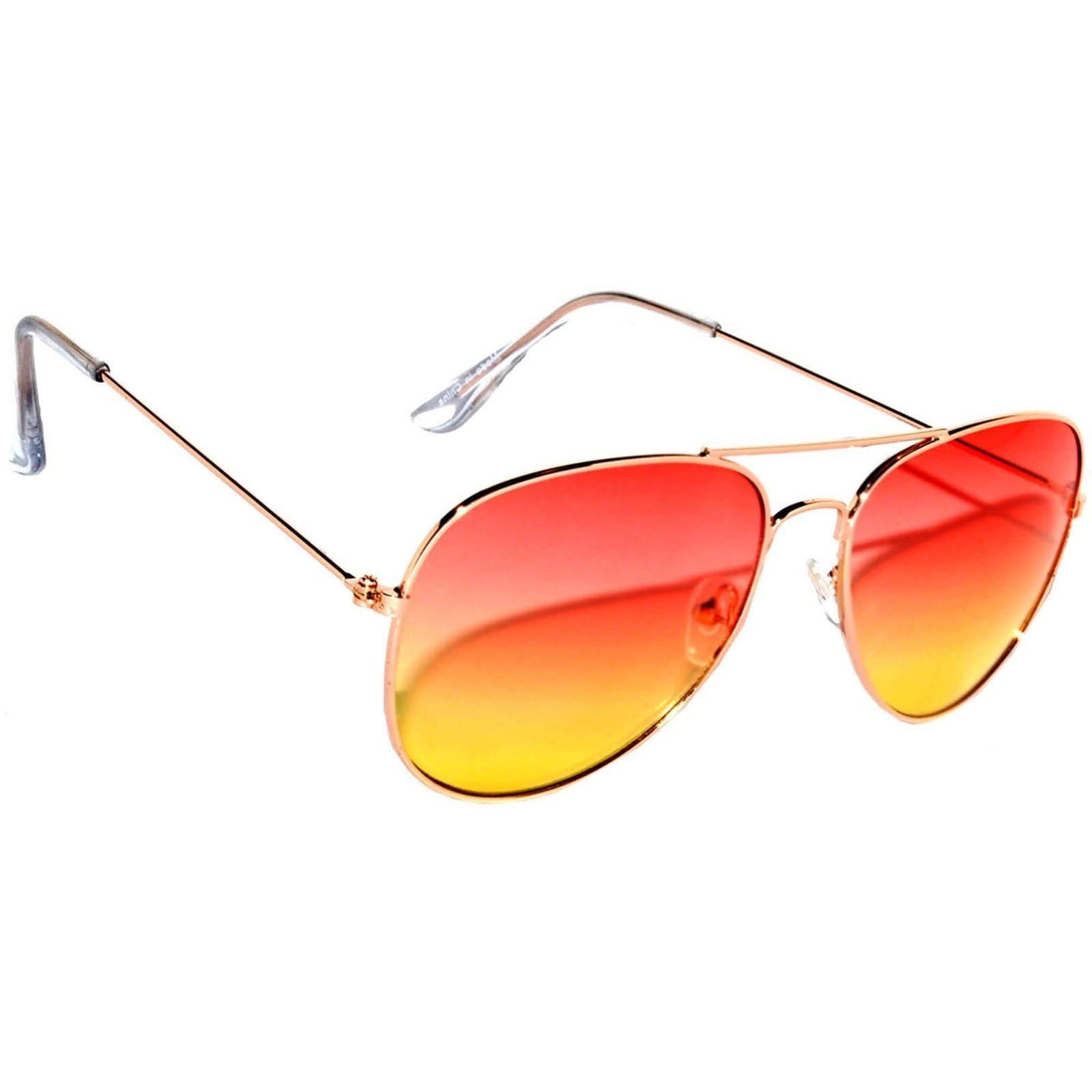 OWL Sunglasses 064 C2 Women's Men's Aviator Gold Frame R