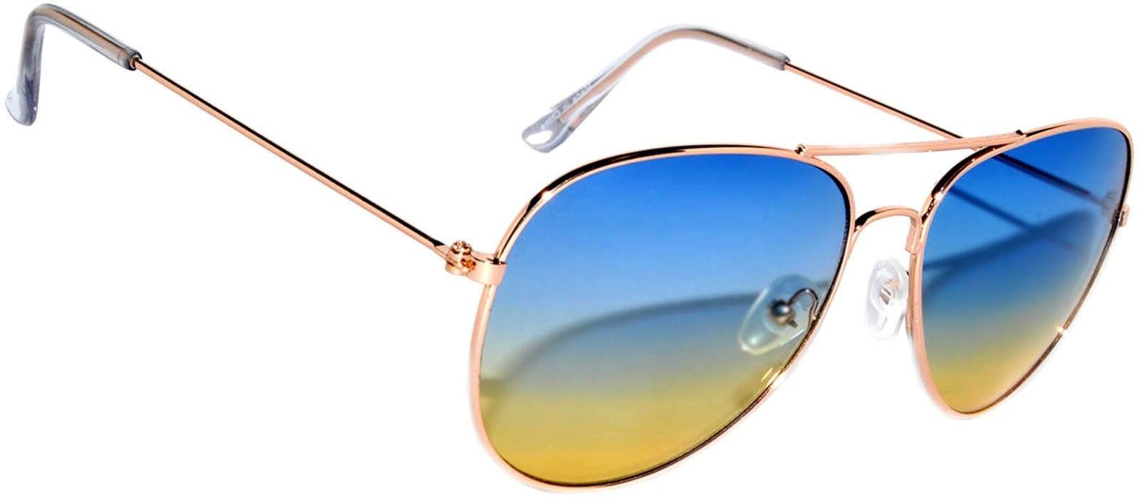 OWL Sunglasses 064 C3 Women's Men's Aviator Gold Frame B