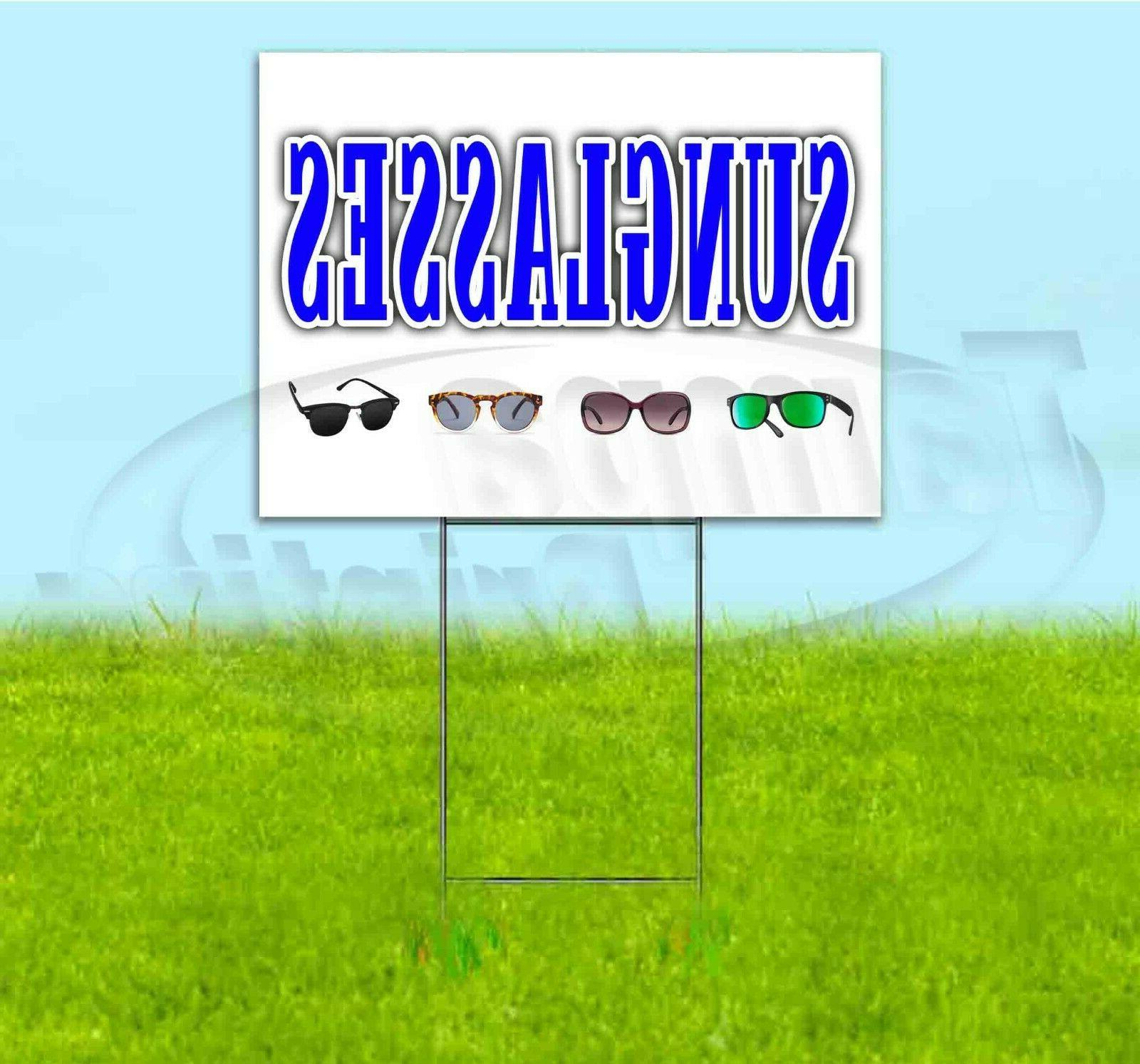 sunglasses 18x24 yard sign with stake corrugated