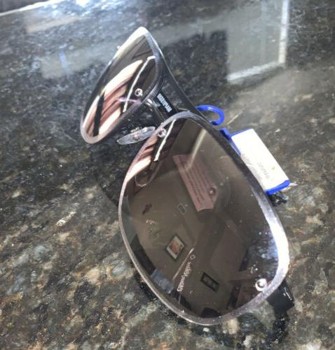 Apt Sunglasses Black Aviator Mirrored 100%