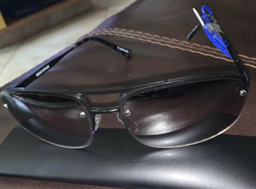 sunglasses black aviator mirrored fade lens 100