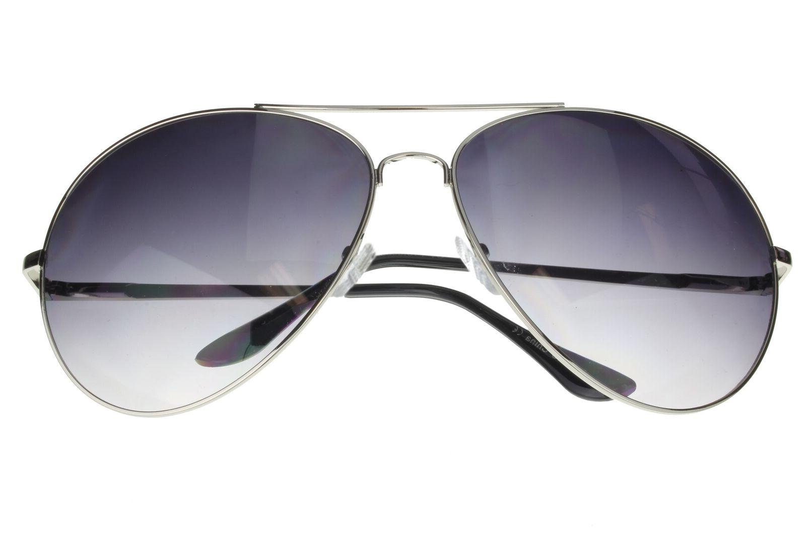 Aviator Wide Frame 160mm XXL Large Oversized Silver