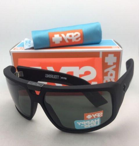 Spy Sunglasses TOURING Soft Matte Black-Happy Grey Green