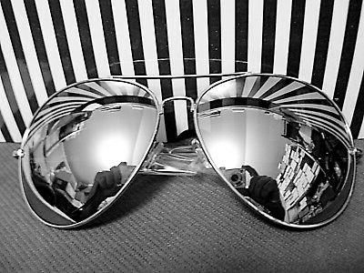 AVIATOR SUNGLASSES WITH SILVER MIRROR EXTRA EXTRA LARGE LENS