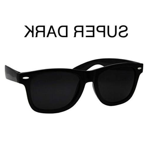 ULTRA super Extra DARK Black Sunglasses MEN WOMEN Aviator Ne