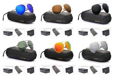 Luenx Unisex Aviator Sunglasses Polarized - Uv 400 With Case