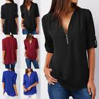 US Fashion Ladies Casual Tops T-Shirt Women Summer Loose Top