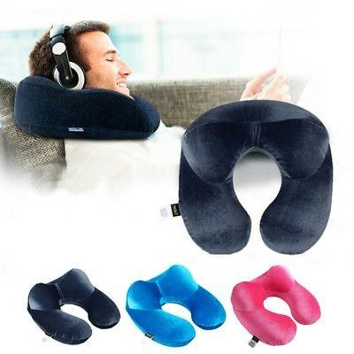 Solid Neck U-Shape Pillow Inflatable Air Blow Up Neck Pillow