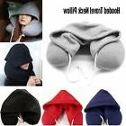 Travel Hooded Pillow Cushion Car Office Airplane Head Rest N