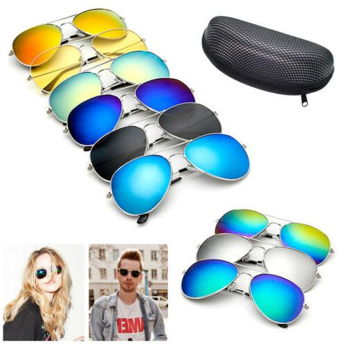 Retro Aviator Sunglasses Mirrored for Men Women Driving UV40