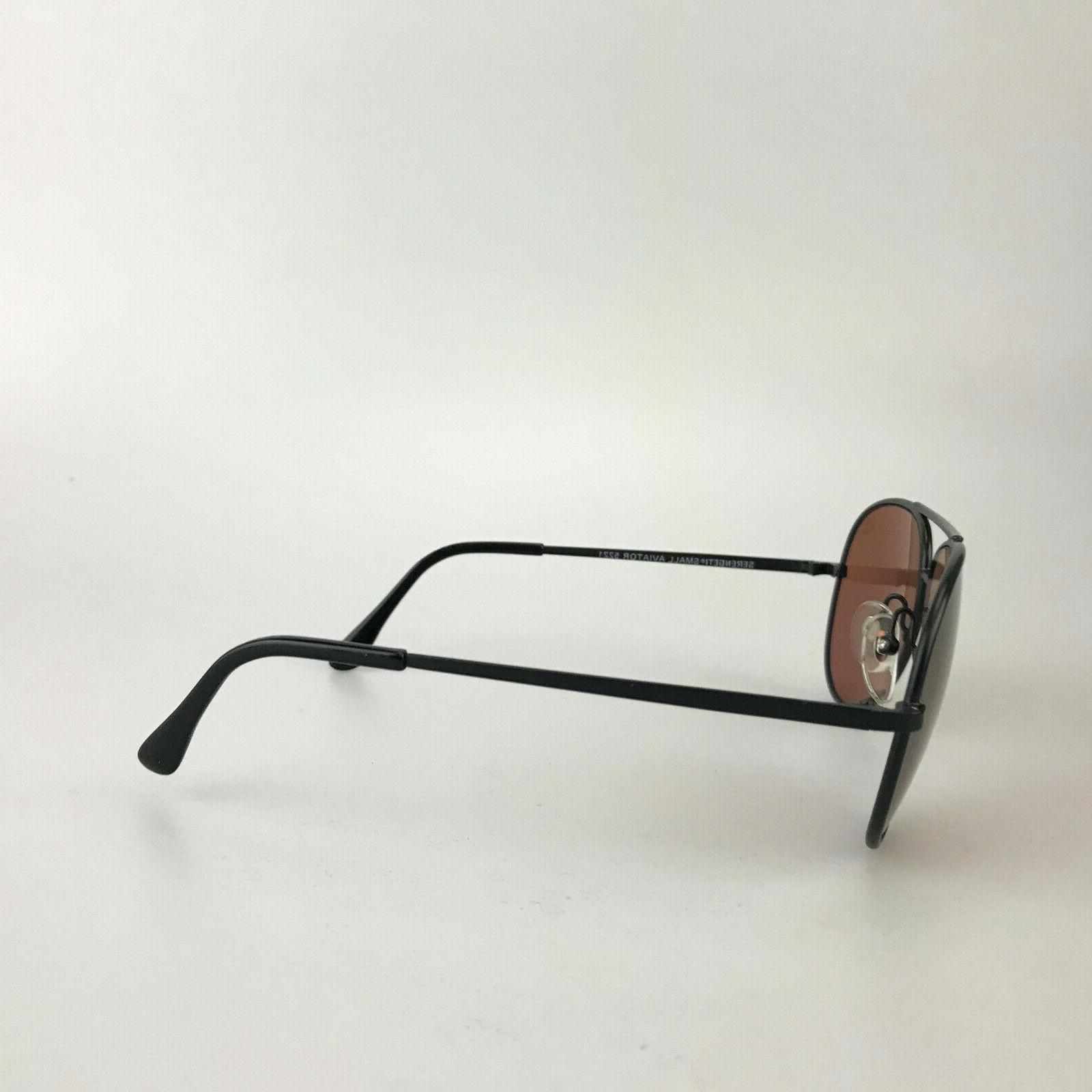 Vintage Serengeti Small Aviator 5221 Black Frame