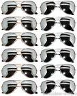 WHOLESALE 6 SILVER 6 GOLD MIRROR LENS AVIATOR STYLE METAL SU