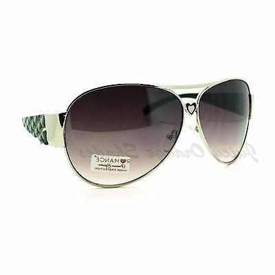 Women's Aviator Sunglasses Full Frame Heart Design Aviators