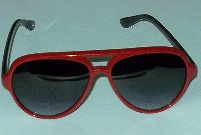 Foster Grant Womens Solar Accents Red Acrylic Aviator Sungla