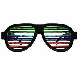 Light Up Shutter Glasses by Glowseen - Sound Reactive - USB
