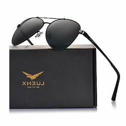 LUENX Aviator Sunglasses for Men Polarized - UV 400 Protecti