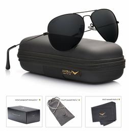 LUENX Men Aviator Sunglasses Polarized - UV 400 Protection w