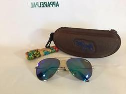 Maui Jim Mavericks Polarized Titanium Sunglasses B264-17 Sil