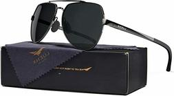 LUENX Men Aviator Sunglasses Polarized Women - UV 400 Protec