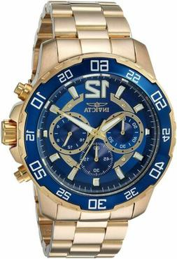 Invicta Men's 22714 Pro Diver Chronograph 45mm Gold-Tone Blu