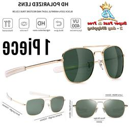 Military Style Pilot Aviator Sunglasses Polarized Bayonet Te