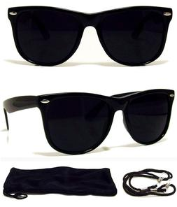 MEN WOMEN Sunglasses Aviator Style Black Frame with Dark Len