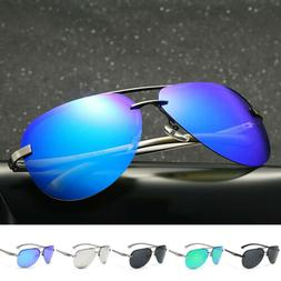 Men Women Vintage Retro Aviator Sunglasses Mirrored Polarize
