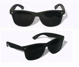 MENS Sunglasses Aviator Style Black Frame with SUPER Dark Le