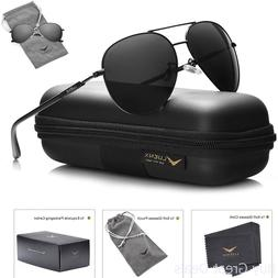 Mens Sunglasses Aviator Polarized Black Luenx Sun Glasses Da