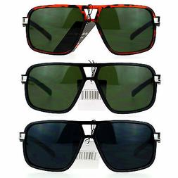 mens thin plastic rectangular sport aviator racer