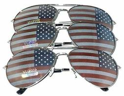 MJ Eyewear American Flag Aviator Sunglasses Glasses Gift Box