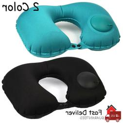 Portable Inflatable Air Pillow Cushion Travel Neck Support U