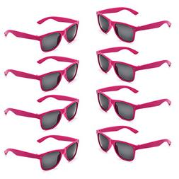 Neon Colors Party Favor Supplies Unisex Sunglasses Pack of 8