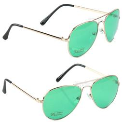 New Aviator Mens Womens Sunglasses Metal Frame Rose Gold Lig