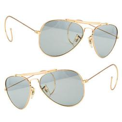 New Aviator Sunglasses Hipster Vintage Style Cable Hook Temp