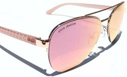 NEW* Michael Kors Barcelona Pink Rose Gold Mirror Aviator Wo