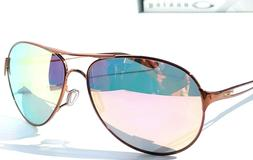 NEW* Oakley Caveat POLARIZED Dark Rose Gold 60mm Aviator Wom