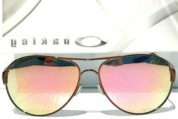 NEW Oakley Caveat POLARIZED Rose Gold 60mm Aviator Brunette