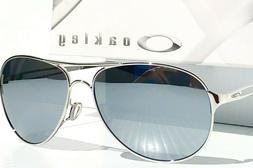 NEW* Oakley CAVEAT Silver POLARIZED Chrome Mirror Women's Av