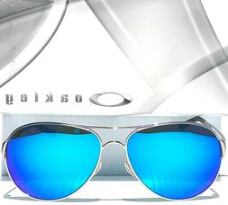 NEW* Oakley CAVEAT Silver POLARIZED Sapphire Womens 60mm Avi